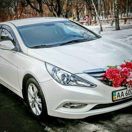 166 Hyundai Sonata белая NEW прокат, 1 час