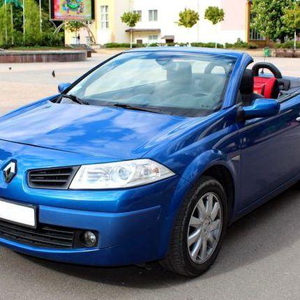 227 Кабриолет Renault Megane синий в аренду