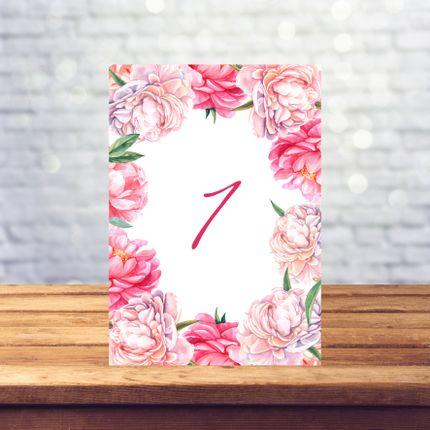 Рассадочные карточки  - номер стола, цена за 1 шт