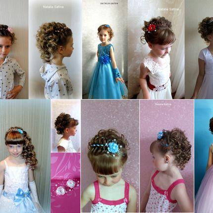 Детская причёска и макияж