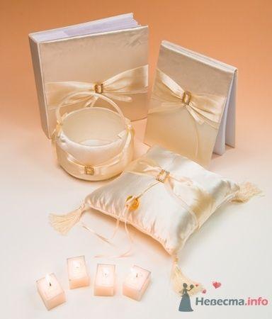 Набор. Атлас. Золото - фото 53567 RosyDog – свадебные аксессуары из Америки и Европы
