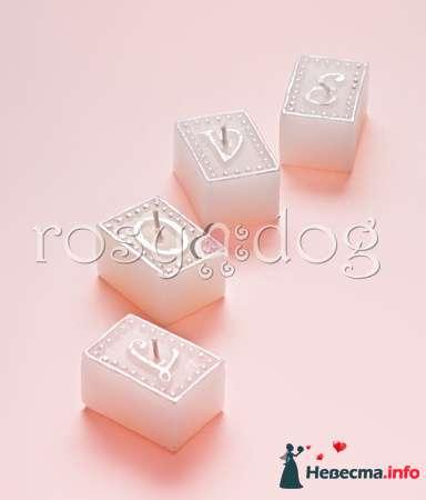 Свадебная свеча LOVE - фото 87604 RosyDog – свадебные аксессуары из Америки и Европы