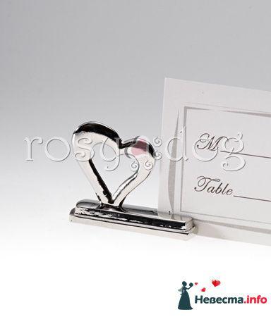 Держатель для рассадочных карточек Сердце - фото 87610 RosyDog – свадебные аксессуары из Америки и Европы