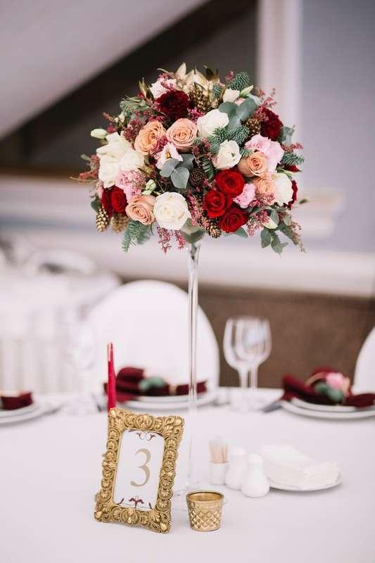 Цветочная композиции на стол гостей - фото 17850072 Флорист и декоратор Kristina Kuzminova