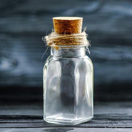 Стеклянная бутылочка Призма, 70мл