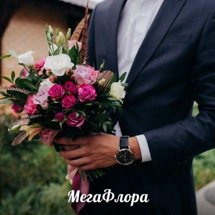 Букет невесты с перьями