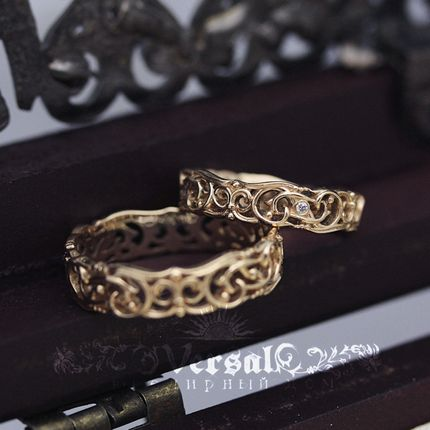 Парные обручальные кольца, артикул VGOK0158
