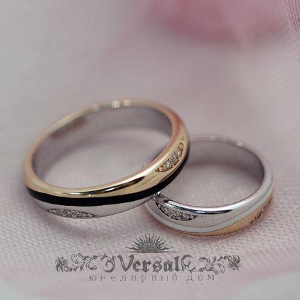 Парные обручальные кольца, артикул VGOK0008