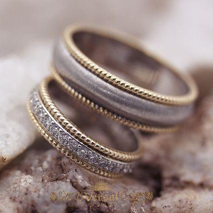 Парные обручальные кольца, артикул VGOK0113