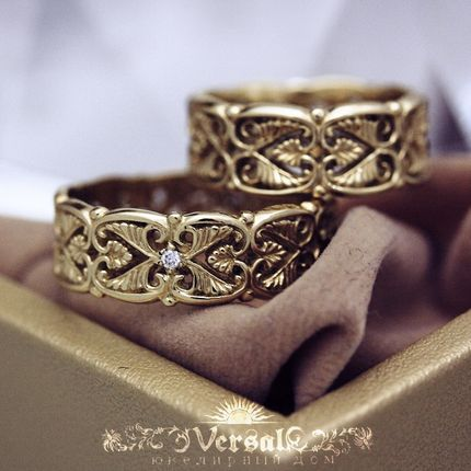Парные обручальные кольца, артикул VGOK0152