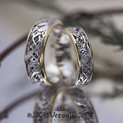 Парные обручальные кольца, артикул VGOK0165