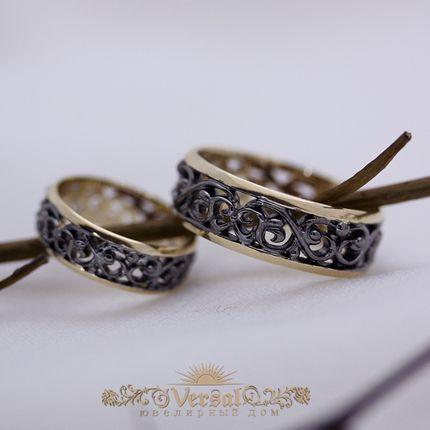 Черные обручальные кольца, артикул VGOK0182