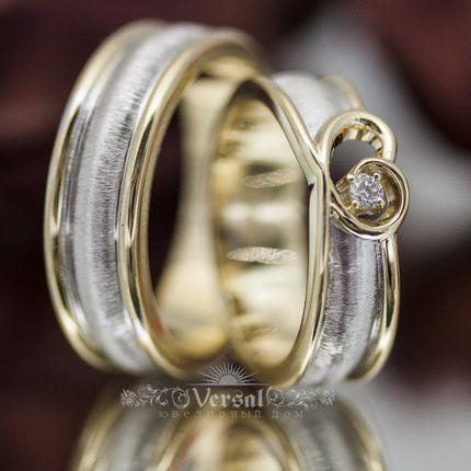 Парные обручальные кольца, артикул VGOK0118