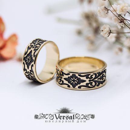 Парные обручальные кольца средней толщины