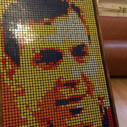 Сборка картин из кубиков Рубика