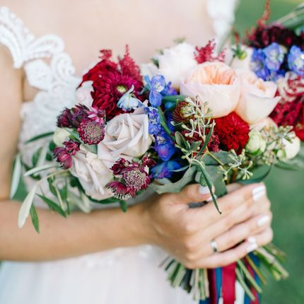 Ассиметричный букет невесты
