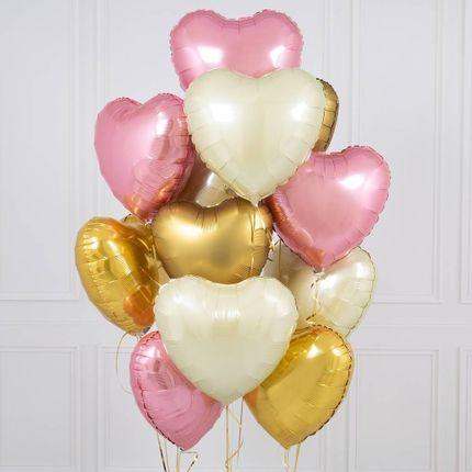 Сет из воздушных шаров сердец, 15 шт