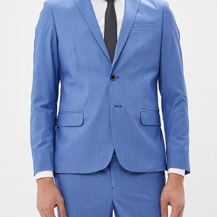 Мужской костюм голубой в клетку