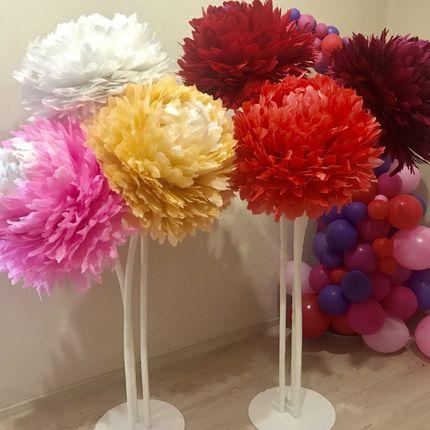 Цветы из перьев в аренду