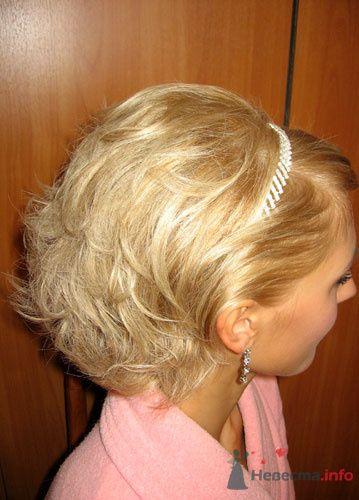 Вечерняя прическа из коротких волос в домашних условиях