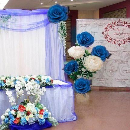 """Розы-гиганты в аренду - пакет """"Синяя свадьба"""""""