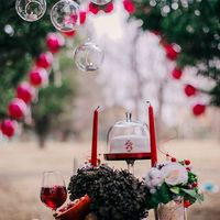 гранаты и шишки, вино  и сладости- настоящая романтика