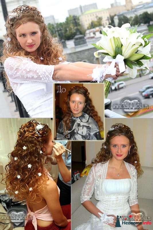 Прическа и макияж Натальи (длинные волосы) - фото 115777 Свадебный стилист-визажист Севостьянова Наталья