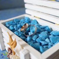 Шкатулка с кольцами для морской свадьбы
