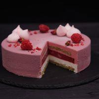 Муссовый торт Малина-личи