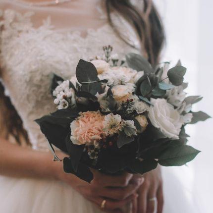 Букет невесты с разными цветами