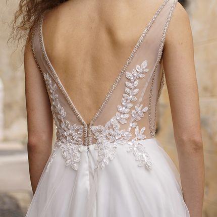 """Платье с V-образным вырезом """"Лилиан"""" бежевое"""