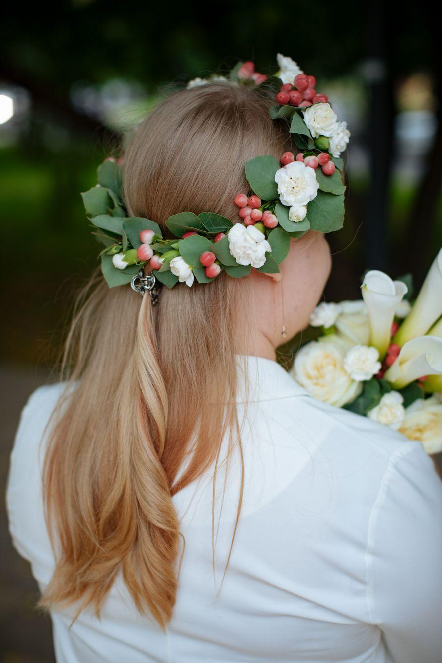 Букет невесты, венок на голову
