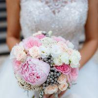 Розово-белый букет невесты