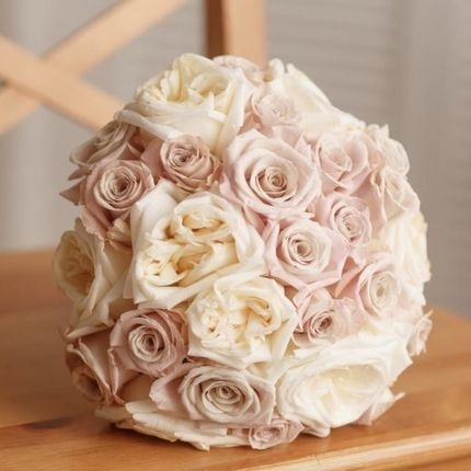 Букет невесты из розы мента и охара