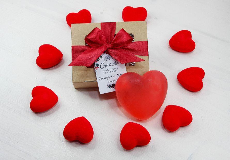 Бонбоньерка-коробочка с мылом в виде сердца, 10 шт.
