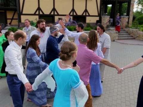 Русская хороводная свадьба. Этнический Свадебный клип.