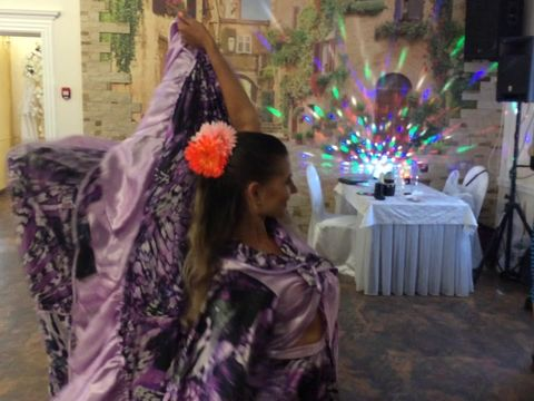 Цыганский танец на свадьбе