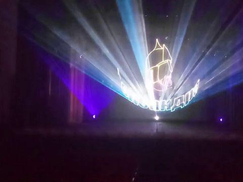Лазерное шоу 30 лет ВОИ