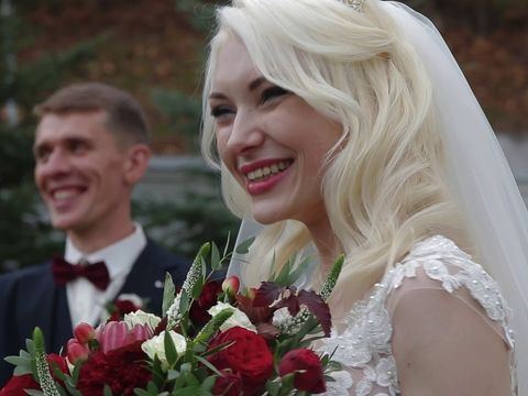 Осенняя свадьба Вероники и Андрея в городе Мозырь